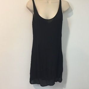 Diane Von Furstenberg 0 Black Sheer Silk Dress